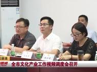 视频新闻丨全市文化产业工作视频调度会召开