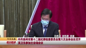 视频新闻|中共徐州市第十二届纪律检查委员会第六次全体会议召开 吴卫东参加主会场会议