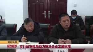 视频新闻|市行政审批局助力解决企业发展困难