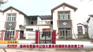 视频新闻|徐州市委副书记徐大勇来邳调研农房改善工作