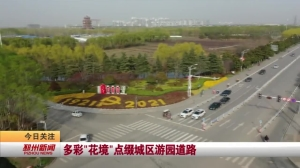 """视频新闻丨多彩""""花境""""点缀城区游园道路"""
