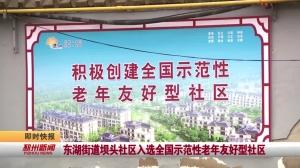 视频新闻丨东湖街道坝头社区入选全国示范性老年友好型社区
