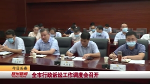 视频新闻丨全市行政诉讼工作调度会召开