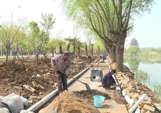 视频 | 六保河生态长廊景观工程进入硬化铺装阶段