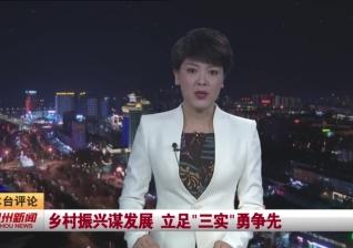 """新闻视频丨乡村振兴谋发展 立足""""三实""""勇争先"""