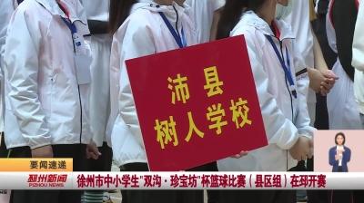 视频新闻丨徐州市中小学生双沟  珍宝坊杯篮球赛(县区组)在邳开赛