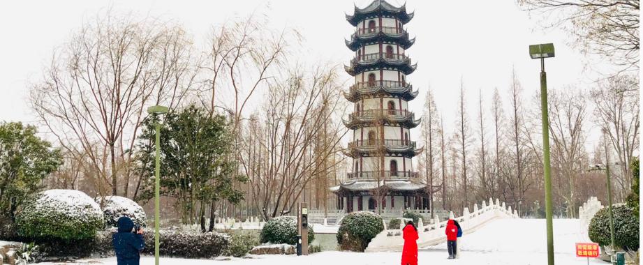 图说丨桃花岛雪景,好美!